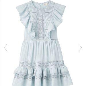 NWT 💐🌞🌸 Rebecca Taylor blue Cotton Gauze Dress